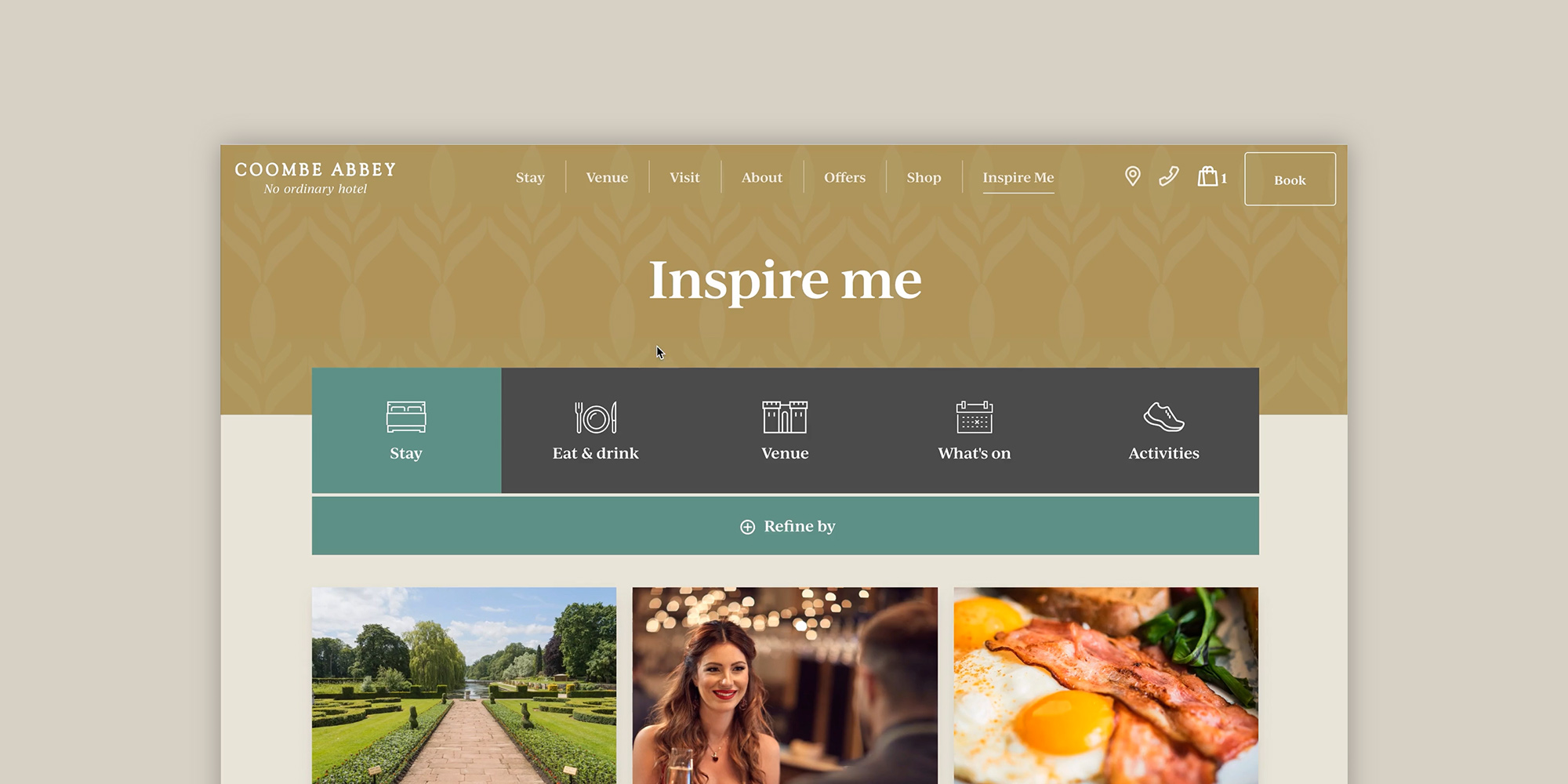 Coombe Abbey inspire me tool