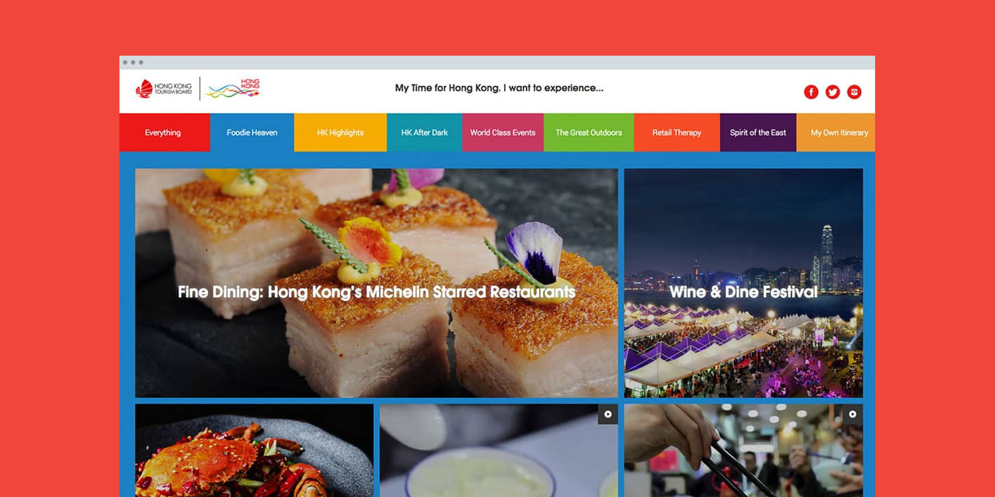 The 'Experience Hong Kong' Microsite