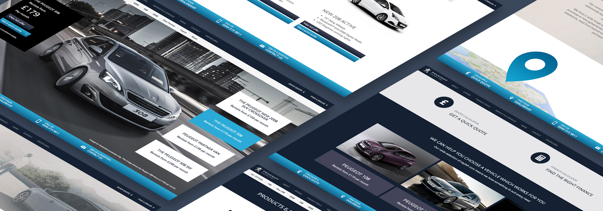 Peugeot Contract Hire Website