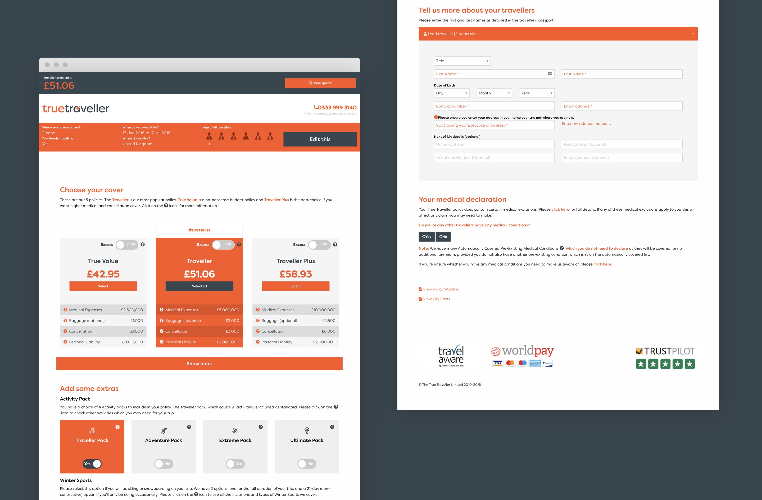 We used a simple, strong colour palette in content design