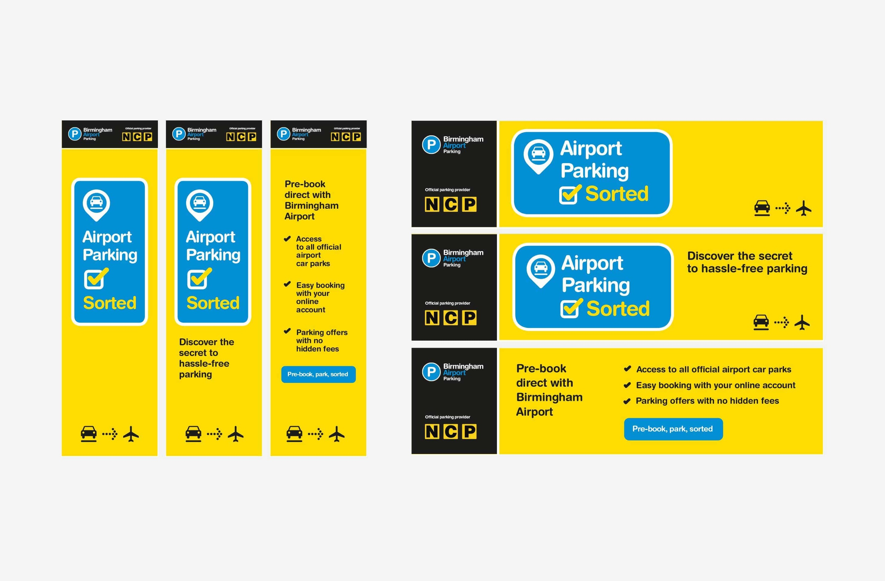 Attractive digital in-airport poster campaign design
