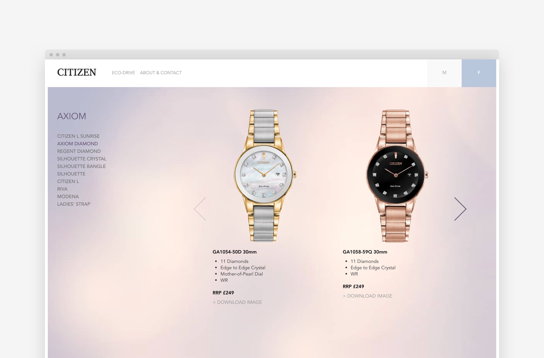 User-friendly ecommerce website design by Rawww