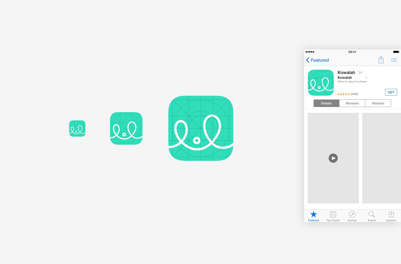 New Kowalah brand logo icon design for app