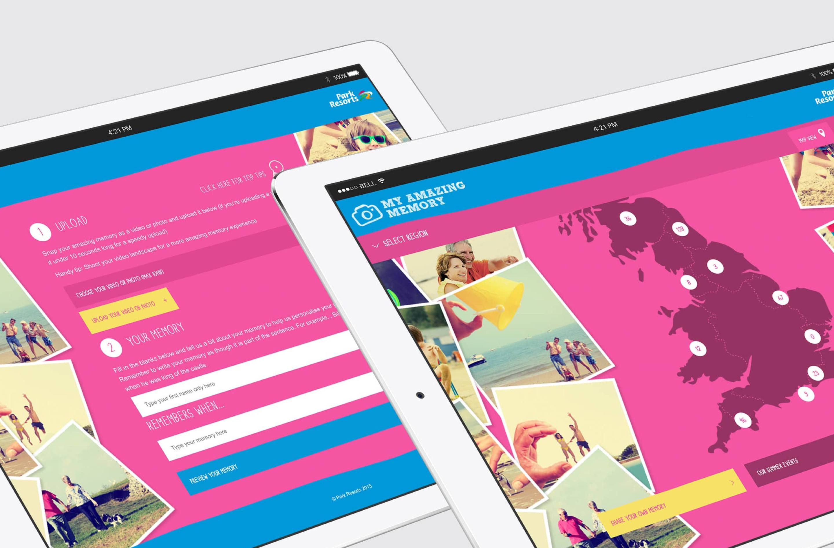 Our microsite website design was mobile friendly