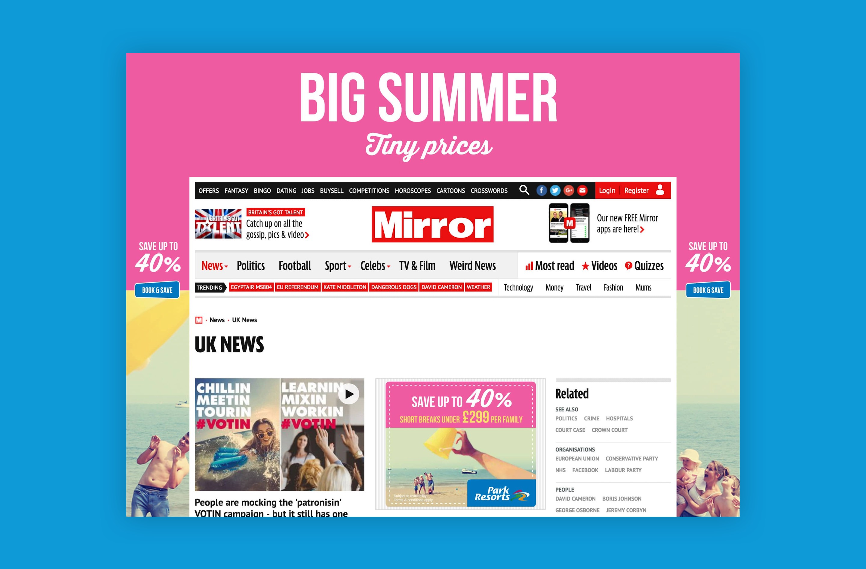 Our colourful online advertising design stood out