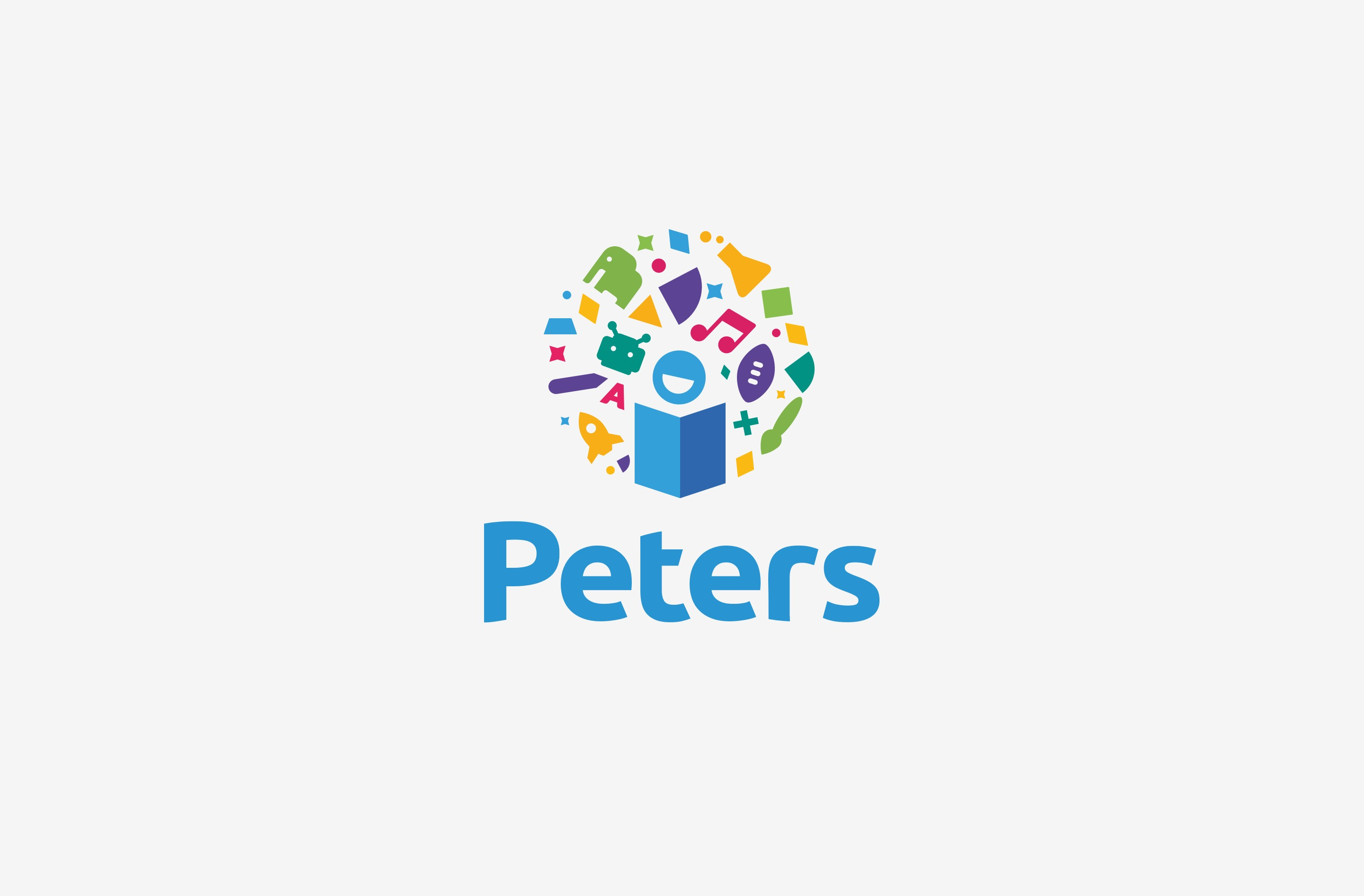 We created a colourful logo design for Peters