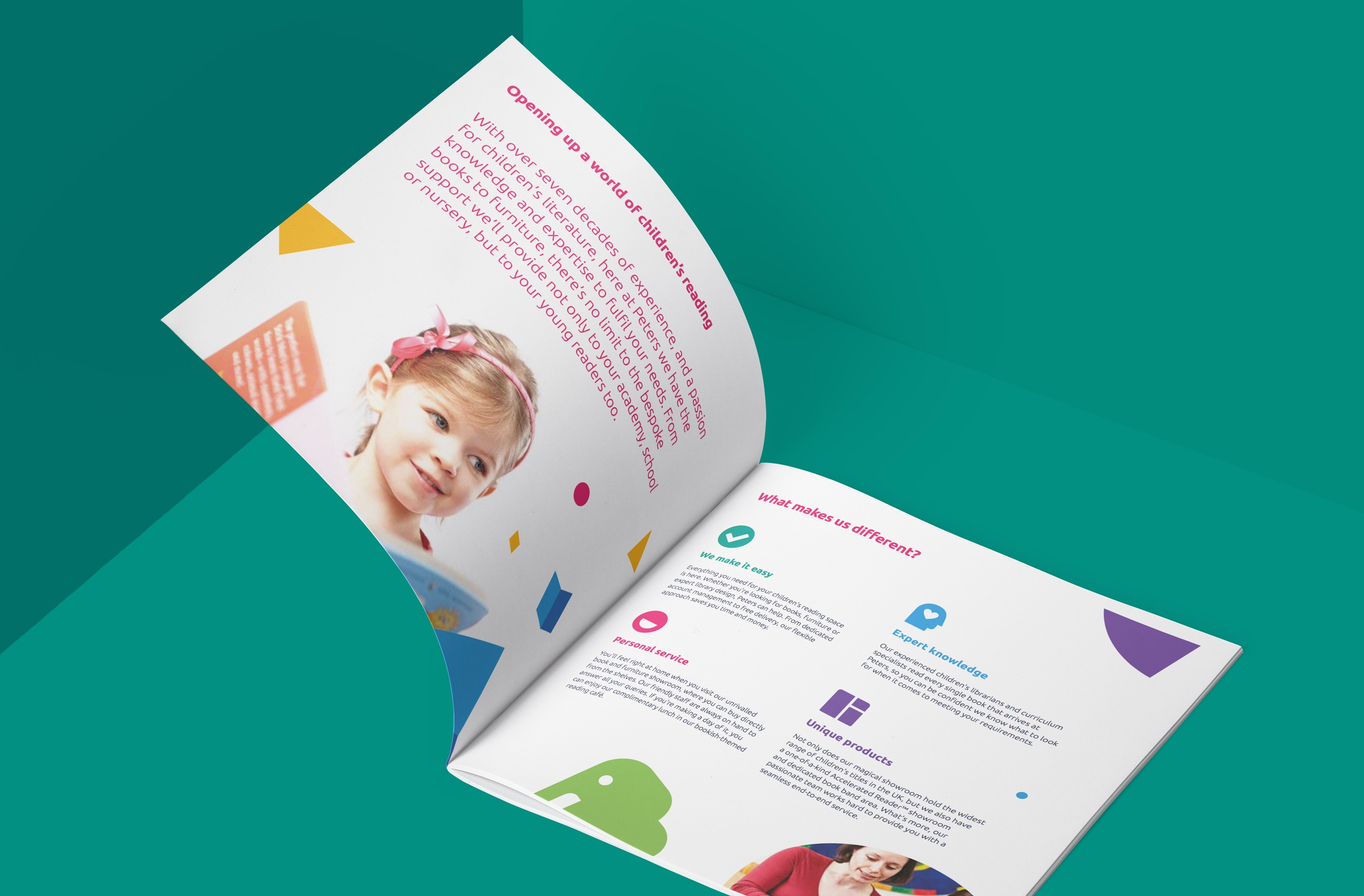 Our brand strategy included print design for brochures
