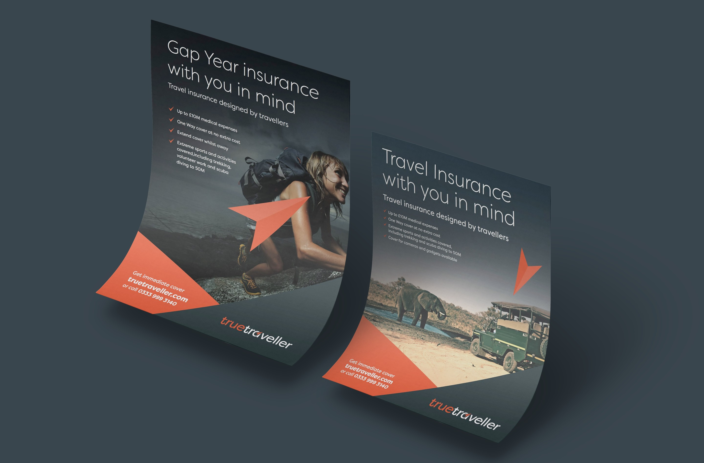 On brand print design for True Traveller