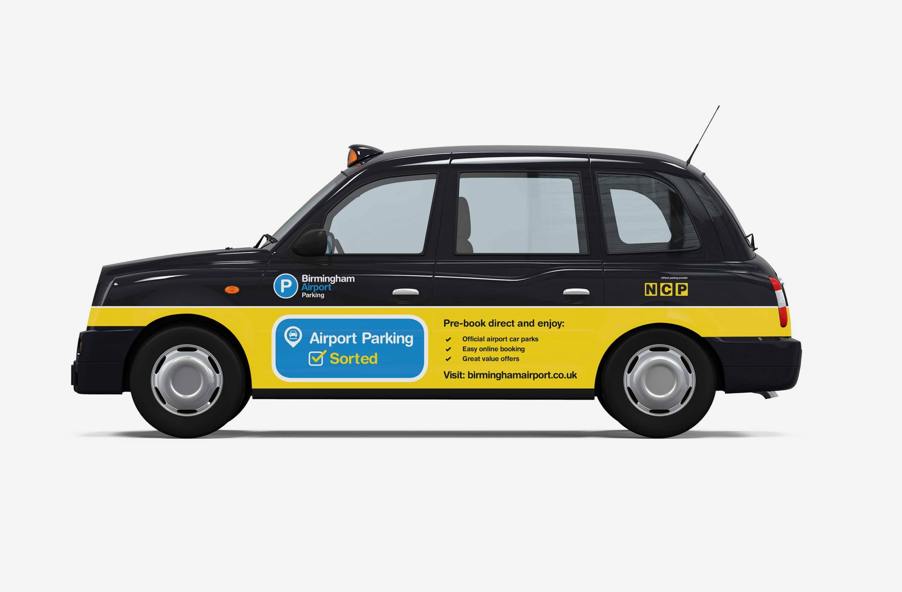Our campaign design extended to taxi wraps