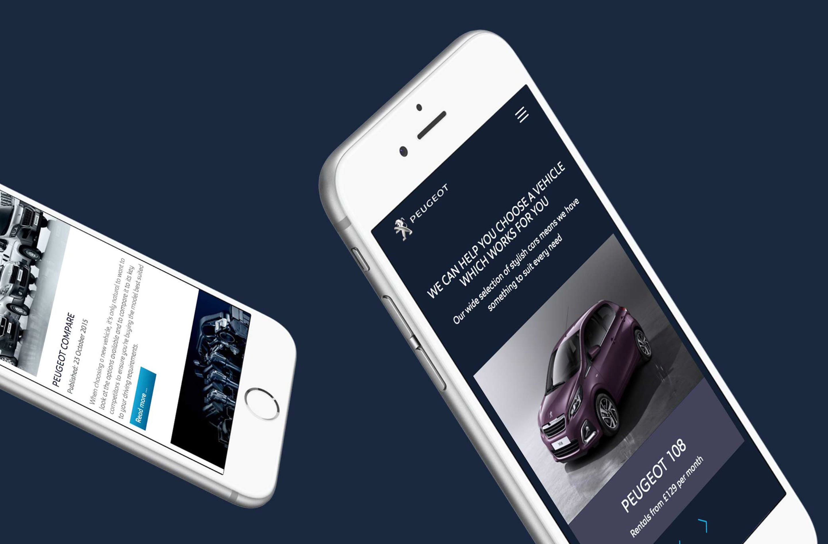 Creating a mobile-first website design for Peugeot