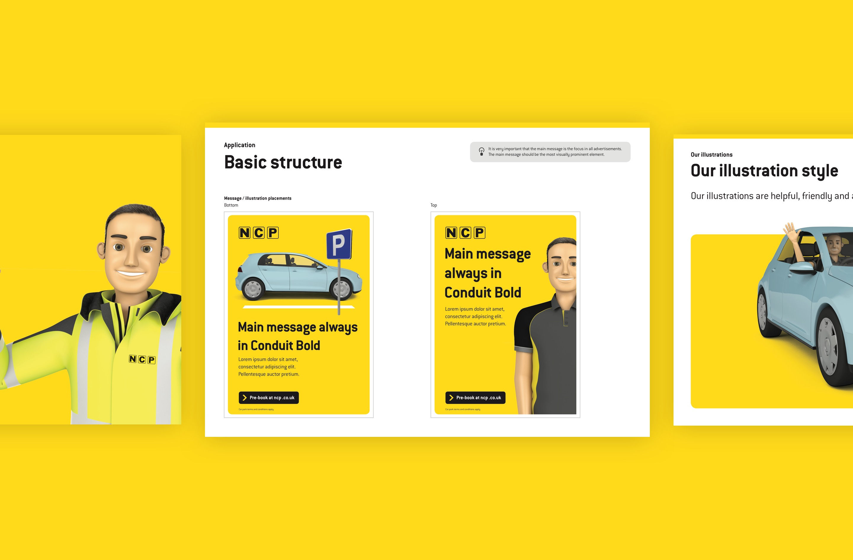 Brand items design guidelines for NCP B2C