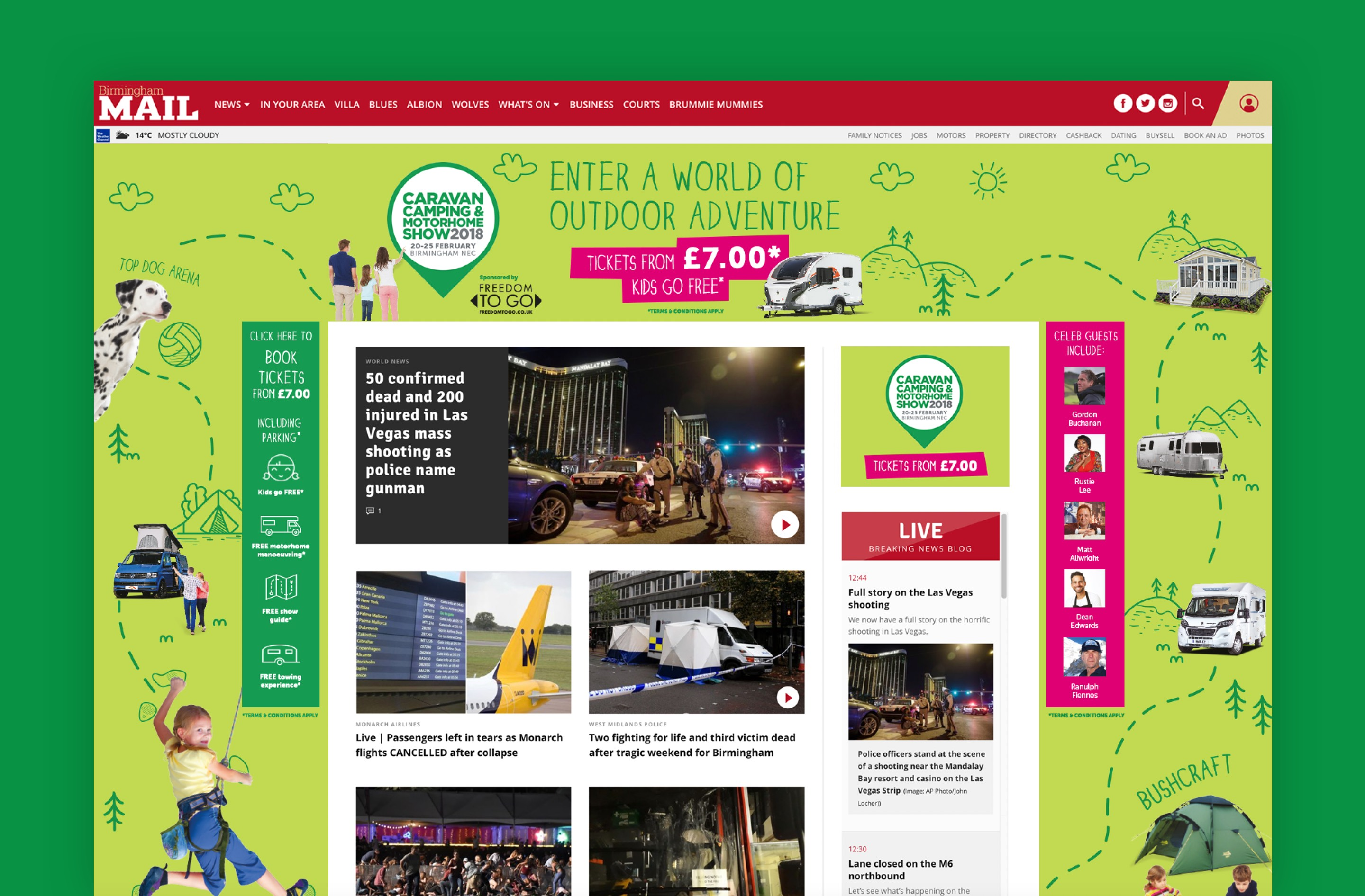 The event's branding design created eye-catching online display advertising