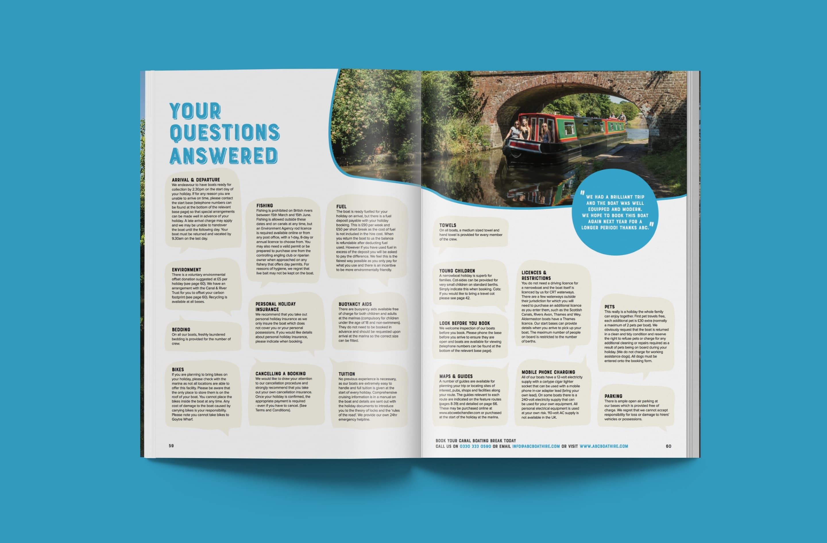 Professional brochure design for ABC