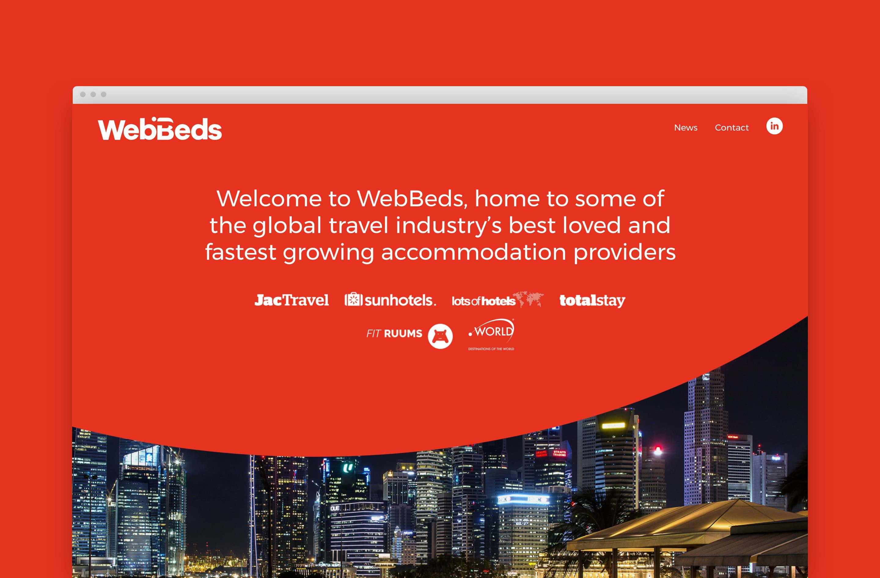 WebBeds website design