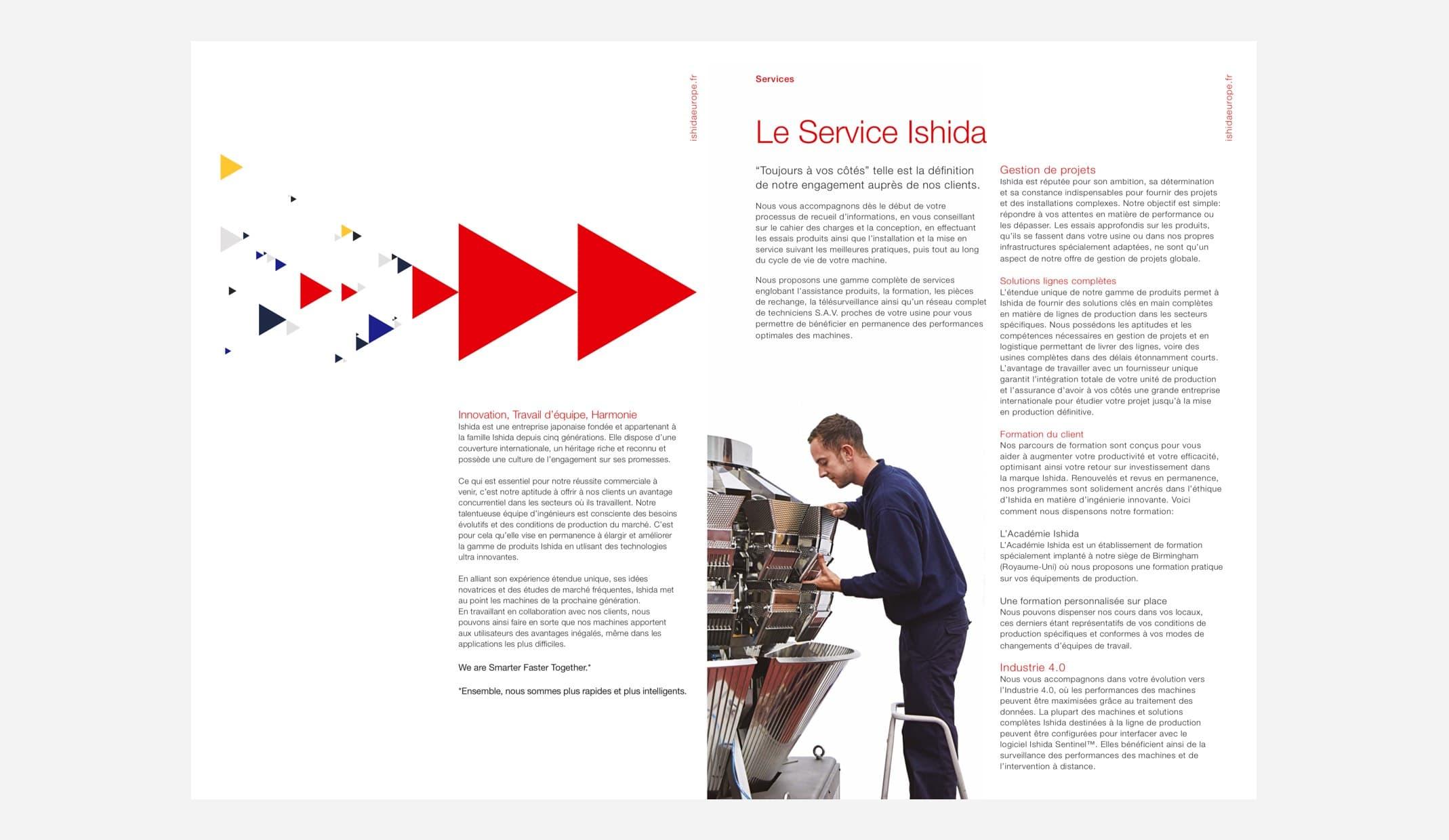 Ishida brochure design
