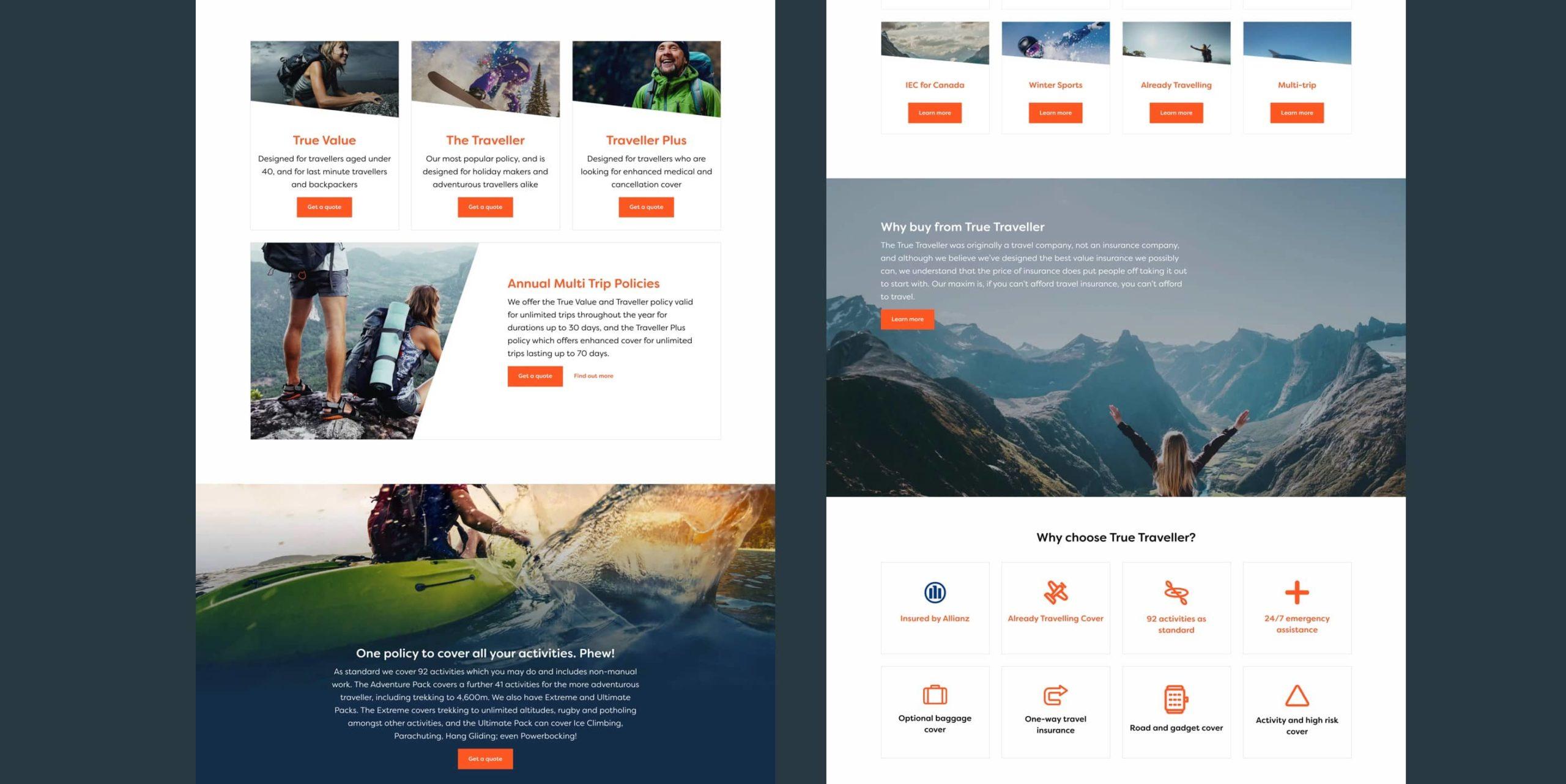 true traveller website design