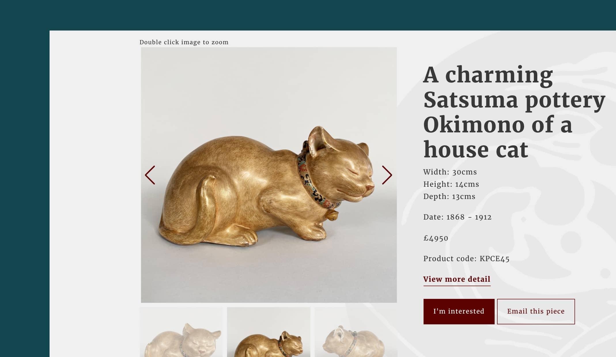 website design for oriental antiques