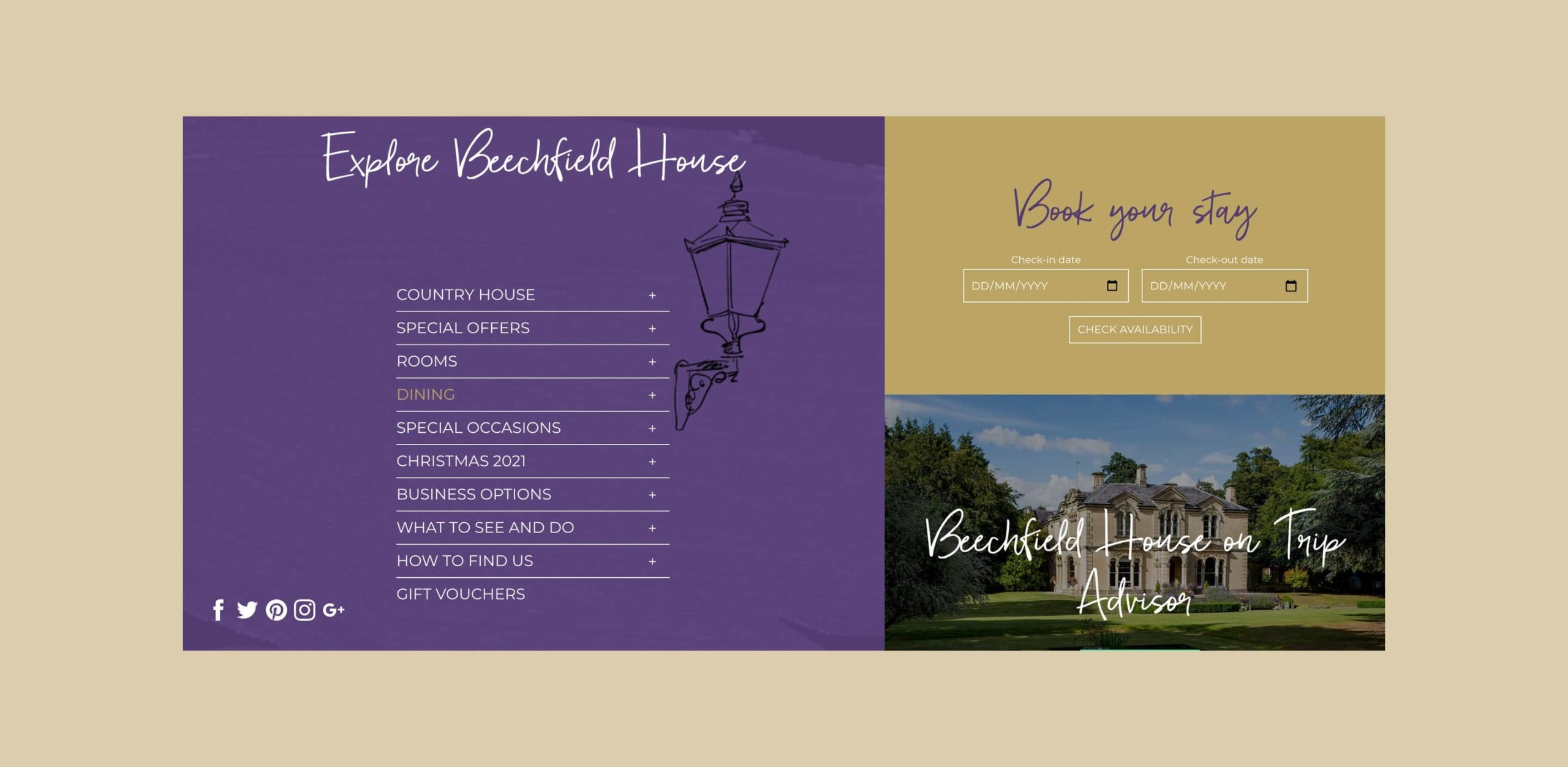 beechfield house user experience design